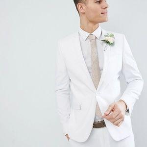ASOS skinny white suit jacket